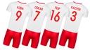 Strój piłkarski POLSKA + getry WŁASNY NADRUK - 122 Typ na co dzień