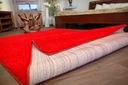 DYWAN SHAGGY 70x100 5cm czerwony miękki jednolity Materiał wykonania polipropylen