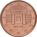 MALTA - 1 cent 2016 r. z rolki menniczej