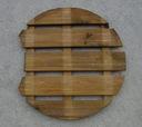 Podest okrągły z wcięciem drewniany WYPRZEDAŻ