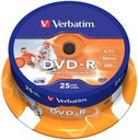 * DVD-R VERBATIM PHOTO PRINTABLE 25  do Nadruku