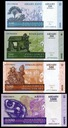 MADAGASKAR ZESTAW 100+200+500+1000 Ariary 2015 UNC