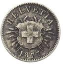 Szwajcaraia - moneta - 5 Rappen 1877 - 2 - RZADKA