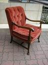 stary i śliczny fotel ludwik