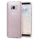 Liquid Crystal Glitter Rose Quartz Etui Galaxy S8