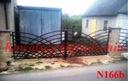 Brama dwuskrzydłowa Nowoczesna 4 m Łuki Kowalscy