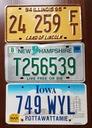 Illinois, New Hampshire, Iowa  - tablice USA