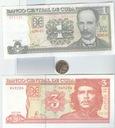 KUBA ,2 BANKNOTY I MONETA