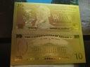 Banknot Pozłacany 24 karat 10$-DOLARÓW
