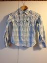 H&M Koszula w kratkę długi rękaw 134