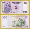 -- KONGO 200 FRANCS 2007 NB-T P99 UNC G&D