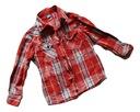 Koszula w czerwoną kratę 116 ADAMS