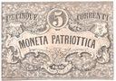 Włochy 5 LIRÓW,Cinqe LIRE 1848! Moneta Patriottica