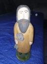Drewniana figura, figurka chłop z kluczem Ozdoba