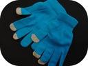1411b99 TURKUSOWE rękawiczki PALCZATKI _ one size