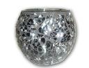 Świecznik kula witraż srebrny, świecznik szkiełka