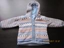 Gruby sweterek na polarze 80cm mothercare