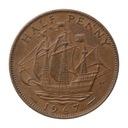 1/2 pensa 1967 Wielka Brytania Elżbieta II st.III