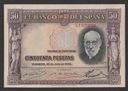 Hiszpania - 50 peset - 1935 - Ramon y Cajal