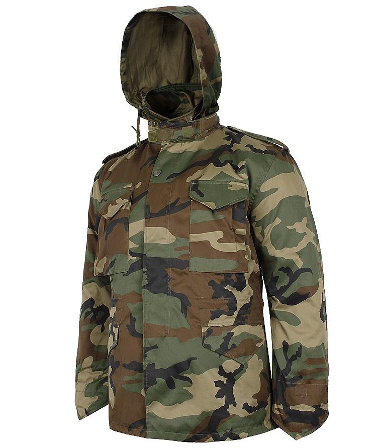 bc3e96fe6a3e6 Kurtka Mil-Tec 2w1 US Fieldjacket M65 T/C Woodland XL [10315020-905]
