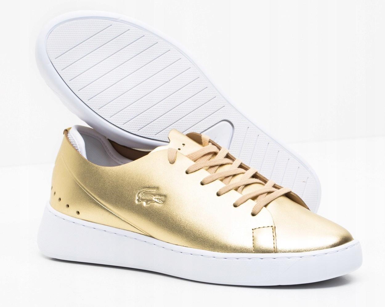 Sneakersy LACOSTE EYYLA 317 buty damskie ZŁOTE