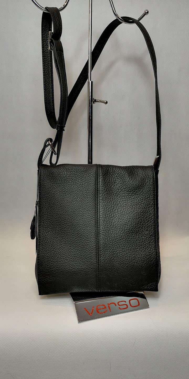 c360d8a24475c Piękna skórzana torebka damska VERSO w formie listonoszki. Wyposażona w  długi, regulowany pasek jest bardzo komfortowym rozwiązaniem na co dzień.