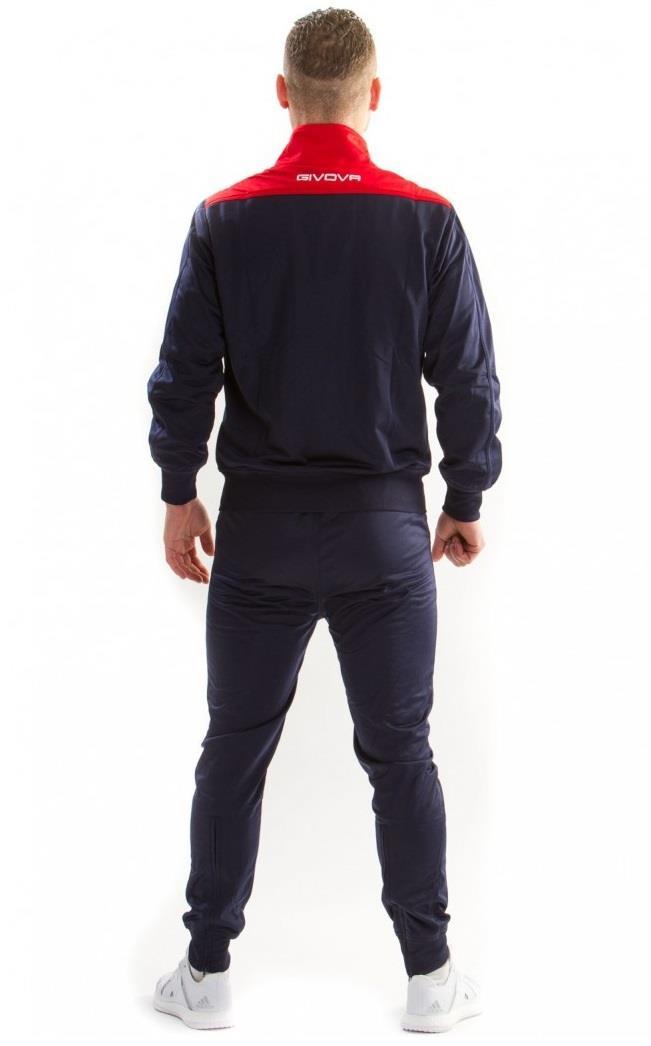 37521f2fb Wysokiej jakości dres sportowy włoskiej firmy GIVOVA. Bluza zapinana  zamkiem błyskawicznym z kieszeniami. Spodnie posiadają gumę ze sznurkiem,  dzięki którym ...