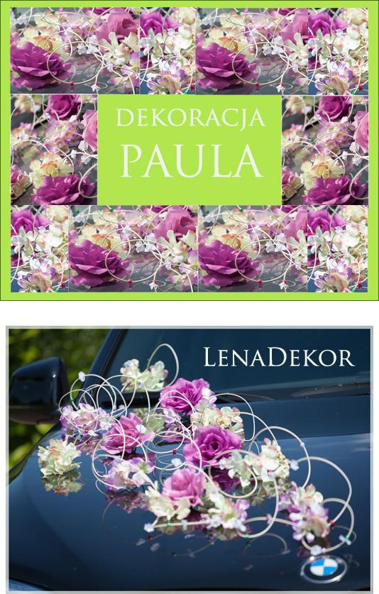 Paula Lenadekor Dekoracja Samochodu Na Samochód 6598964678 Allegropl