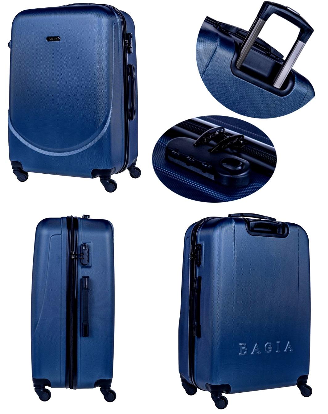 4cc4b8b8c3733 Zespół projektowy Bagia wyposażył wszystkie modele małych walizek w  dwustopniowy aluminiowy stelaż. Dzięki temu wysokość uchwytu dopasowana  jest do ...