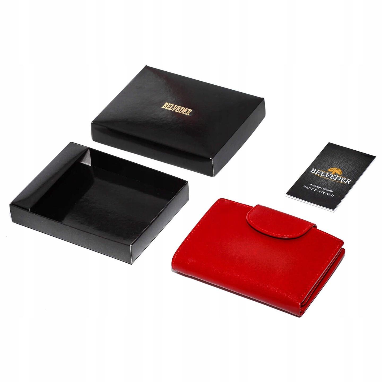 9d6b24c8f2d11 Portfel damski mały czerwony HANDMADE Belveder 7655556198 - Allegro.pl