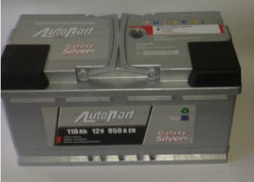 аккумулятор 110ah autopart galaxy серебро hybrid 105 - фото