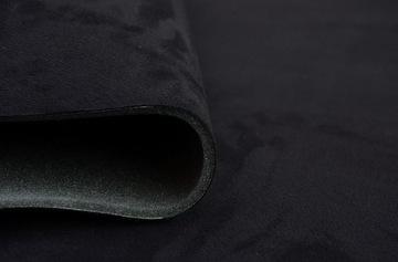 0,5 mb ткань автомобильная nubuk обшивка крыши черная - фото
