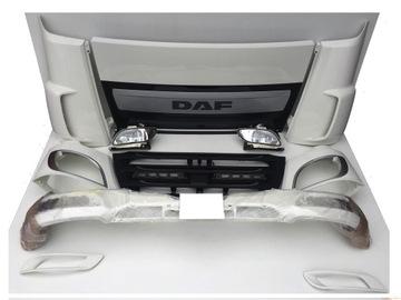 daf xf 106 евро 6 бампер решетка радиатора фара h3279 - фото
