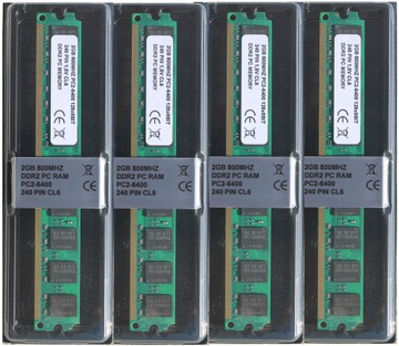 ОПЕРАТИВНАЯ ПАМЯТЬ 8GB 4x2GB DDR2 800 мгц DIMM DUAL доставка товаров из Польши и Allegro на русском