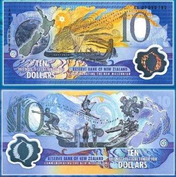 ~ New Zealand $10 ПОЛИМЕР Millennium ВЕЛИКОЛЕПНЫЙ !! доставка товаров из Польши и Allegro на русском