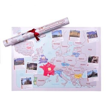 MAPA ZDRAPKA ZAKOCHANYCH WALENTYNKI DZIEŃ KOBIET доставка товаров из Польши и Allegro на русском
