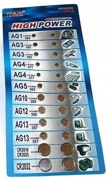Комплект батареек для часов 24 шт AG13 CR2025 доставка товаров из Польши и Allegro на русском
