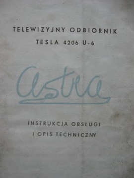 Телевизор ТЕСЛА ASTRA У 4206 Инструкция + схема доставка товаров из Польши и Allegro на русском