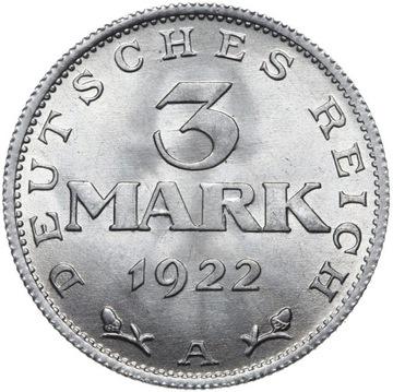 Германия - 3 Марки 1922 А - MENNICZA ИЗ РУЛОНА доставка товаров из Польши и Allegro на русском