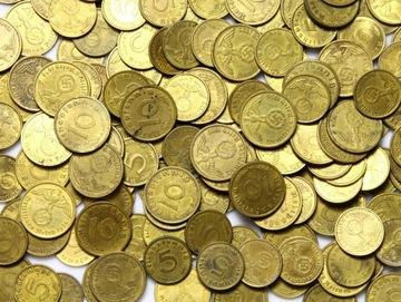 III Рейх МОНЕТЫ 5 и 10 Pfennig ЛАТУНЬ 100 шт доставка товаров из Польши и Allegro на русском