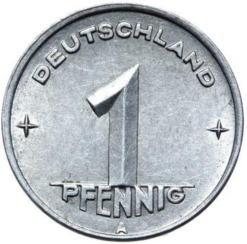 Германия DDR - монета - 1 Pfennig 1948 Года, А - БЕРЛИН доставка товаров из Польши и Allegro на русском
