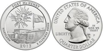 Парки США - Fort McHenry 2013 - монетный двор S доставка товаров из Польши и Allegro на русском