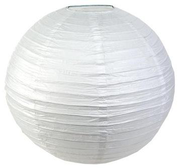 Papierové lampičky na lampáke 50 cm biela