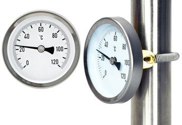 Teplomer kruhového disku 63mm 1/2 0-120C Komprimovaný
