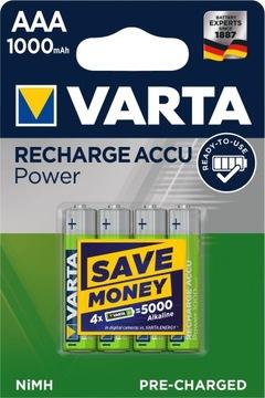 Akumulátory 4x R03 / AAA VARTA Ready2Use 1000 Mah