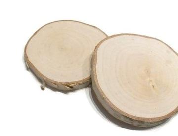 Drevené plátky dreva breza leštená 10-12 cm