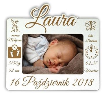 Odtlačok rámu Foto 10x15 1. narodeniny dieťaťa