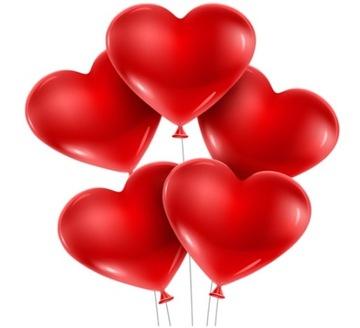 Srdce Balóniky Valentín Svadobné prijímanie 50ks. VEĽKÉ