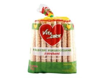 Кукурузные палочки с отрубями 70 г - VitaCORN