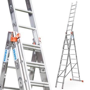 KRAUSE MONTO PROFESSIONAL лестница алюминиевая 3х10